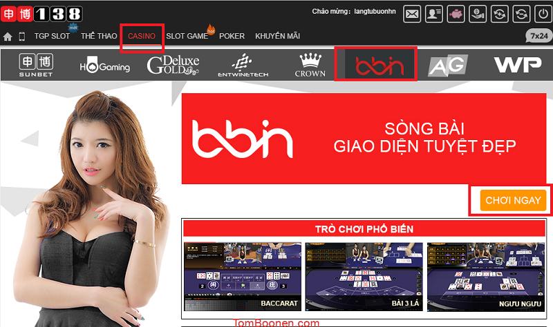 Đăng Nhập Vào Website Và Chọn Sòng Casino