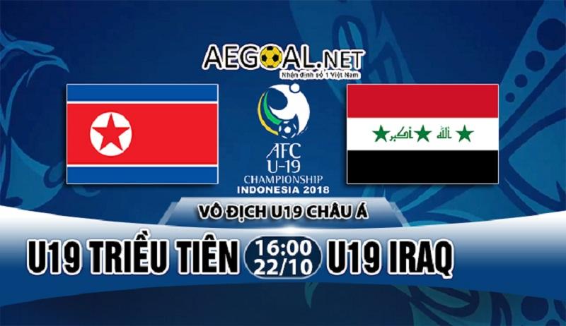 Nhận định kèo nhà cái W88: U19 Triều Tiên vs U19 Iraq, 16h00 ngày 22/10